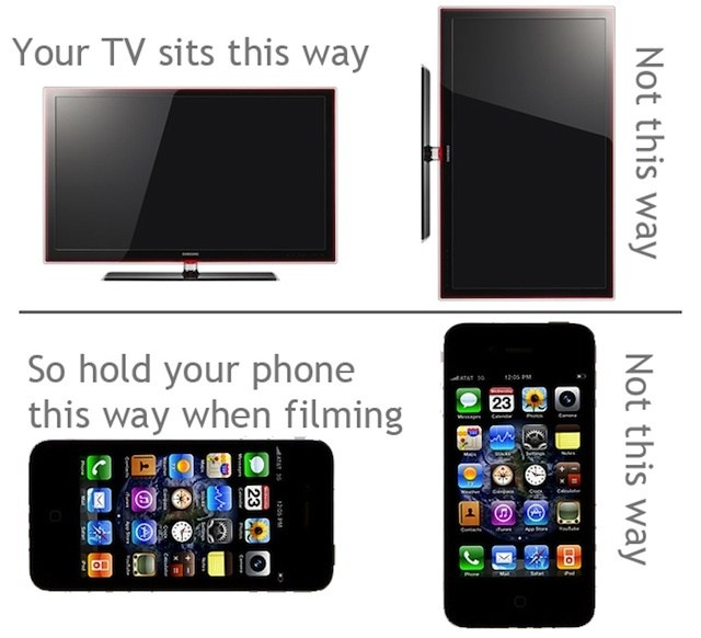 Le format vertical n'est pas adapté à votre télévision !