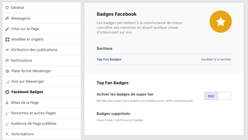 Activer les Badges Super Fan Facebook